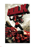 Hulk No.47 Cover: Red She-Hulk and Red Hulk Plastic Sign by Carlo Pagulayan
