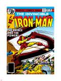 Marvel Comics Retro: The Invincible Iron Man Comic Book Cover No.121; Fighting Namor Plastic Sign