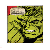 Marvel Comics Retro: The Incredible Hulk Comic Panel (aged) Wall Decal