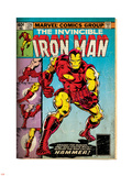 Marvel Comics Retro: The Invincible Iron Man Comic Book Cover No.126, Suiting Up for Battle (aged) Plastic Sign