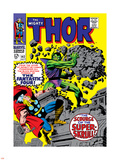 Marvel Comics Retro: The Mighty Thor Comic Book Cover No.142, Scourge of the Super Skrull! Plastic Sign