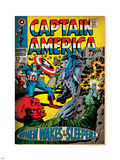 Marvel Comics Retro: Captain America Comic Book Cover No.101, Red Skull (aged) Plastic Sign