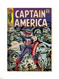 Marvel Comics Retro: Captain America Comic Book Cover No.107, with Red Skull and Bucky (aged) Plastic Sign