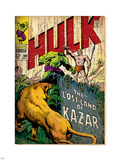 Marvel Comics Retro: The Incredible Hulk Comic Book Cover No.109, the Lost Land of Ka-Zar (aged) Plastic Sign