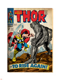 Marvel Comics Retro: The Mighty Thor Comic Book Cover No.151 --To Rise Again! (aged) Plastic Sign