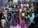 Invincible Iron Man No.513: Vibro, Firebrand, Blizzard, Crimson Dynamo, Living Laser and Others Plastic Sign by Salvador Larroca