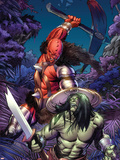 Skaar: Son Of Hulk No.6 Cover: Skaar Plastic Sign by Ron Garney