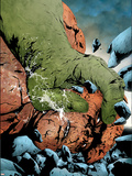Hulk & Thing: Hard Knocks No.1 Cover: Hulk and Thing Jumping Plastic Sign by Jae Lee