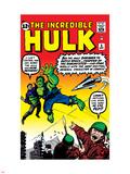 Marvel Comics Retro: The Incredible Hulk Comic Book Cover No.3 Plastic Sign