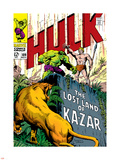 Marvel Comics Retro: The Incredible Hulk Comic Book Cover No.109, the Lost Land of Ka-Zar Plastic Sign