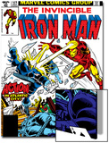 Marvel Comics Retro: The Invincible Iron Man Comic Book Cover No.124, Action in Atlantic City Prints