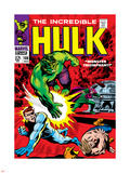 Marvel Comics Retro: The Incredible Hulk Comic Book Cover No.108, with Nick Fury Plastic Sign