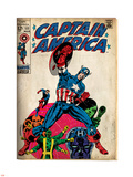 Marvel Comics Retro: Captain America Comic Book Cover No.111, with Hydra and Bucky (aged) Plastic Sign
