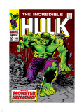Marvel Comics Retro: The Incredible Hulk Comic Book Cover No.105 Plastic Sign