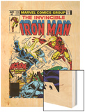 Marvel Comics Retro: The Invincible Iron Man Comic Book Cover No.124, Action in Atlantic City Wood Print