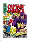 Marvel Comics Retro: Captain America Comic Book Cover No.108, the Trapster Plastic Sign