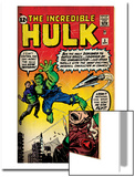 Marvel Comics Retro: The Incredible Hulk Comic Book Cover No.3 (aged) Prints