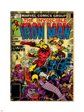 Marvel Comics Retro: The Invincible Iron Man Comic Book Cover No.127, Against the Super-Army! Plastic Sign