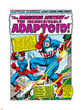 Marvel Comics Retro: Captain America Comic Panel, The Inconceivable Adaptoid! with Bucky Plastic Sign