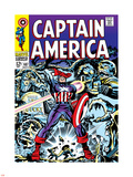 Marvel Comics Retro: Captain America Comic Book Cover No.107, with Red Skull and Bucky Plastic Sign