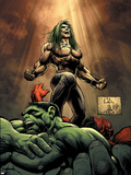 Hulk No.18 Cover: Doc Samson, Hulk and Rulk Wall Decal by Whilce Portacio