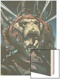 Iron Man No.88 Cover: Iron Man, Stark and Tony Charging Wood Print by Pat Lee