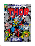Marvel Comics Retro: The Mighty Thor Comic Book Cover No.123, Mystery, Absorbing Man, Odin & Loki Plastic Sign