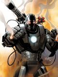 Iron Man 2.0 No.1 Cover: War Machine Wallstickers af Salvador Larroca