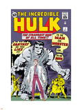 Marvel Comics Retro: The Incredible Hulk Comic Book Cover No.1, with Bruce Banner Plastic Sign