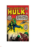 Marvel Comics Retro: The Incredible Hulk Comic Book Cover No.3 (aged) Plastic Sign