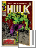 Marvel Comics Retro: The Incredible Hulk Comic Book Cover No.105 (aged) Prints