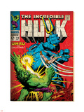 Marvel Comics Retro: The Incredible Hulk Comic Book Cover No.110, with Umbu the Unliving (aged) Plastic Sign