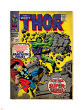 Marvel Comics Retro: The Mighty Thor Comic Book Cover No.142, Scourge of the Super Skrull! (aged) Plastic Sign