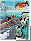 Iron Man And Power Pack No.2 Group: Iron Man, Lightspeed, Mass Master, Zero-G and Energizer Posters by Marcelo Dichiara
