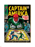 Marvel Comics Retro: Captain America Comic Book Cover No.103, Red Skull, the Weakest Link (aged) Plastic Sign