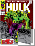 Marvel Comics Retro: The Incredible Hulk Comic Book Cover No.105 Art