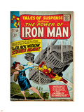 Marvel Comics Retro: The Invincible Iron Man Comic Book Cover No.53, Black Widow Strikes Again Plastic Sign