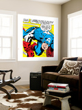 Marvel Comics Retro: Captain America Comic Panel, Monologue, I'm in Luck! Wall Mural