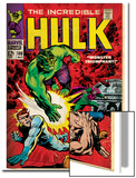 Marvel Comics Retro: The Incredible Hulk Comic Book Cover No.108, with Nick Fury (aged) Art