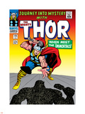 Marvel Comics Retro: The Mighty Thor Comic Book Cover No.125, Journey into Mystery Plastic Sign