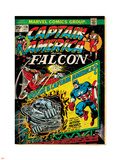 Marvel Comics Retro: Captain America Comic Book Cover No.178, with the Falcon (aged) Plastic Sign