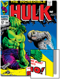 Marvel Comics Retro: The Incredible Hulk Comic Book Cover No.104, with the Rhino Art