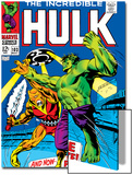 Marvel Comics Retro: The Incredible Hulk Comic Book Cover No.103, with the Space Parasite Prints