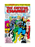 Marvel Comics Retro: Mighty Thor Comic Panel, Tales of Asgard, the Fateful Change! Plastic Sign