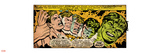 Marvel Comics Retro: The Incredible Hulk Comic Panel, Bruce Banner Transforming (aged) Wall Decal