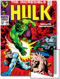 Marvel Comics Retro: The Incredible Hulk Comic Book Cover No.108, with Nick Fury Prints