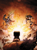 Iron Man 2.0 No.6 Cover: War Machine Fighting Plastic Sign by Salvador Larroca