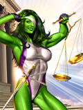 She-Hulk No.1 Cover: She-Hulk Plastic Sign