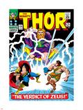 Marvel Comics Retro: The Mighty Thor Comic Book Cover No.129, The Verdict of Zeus, Hercules Plastic Sign
