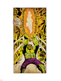 Marvel Comics Retro: The Incredible Hulk Comic Panel (aged) Plastic Sign